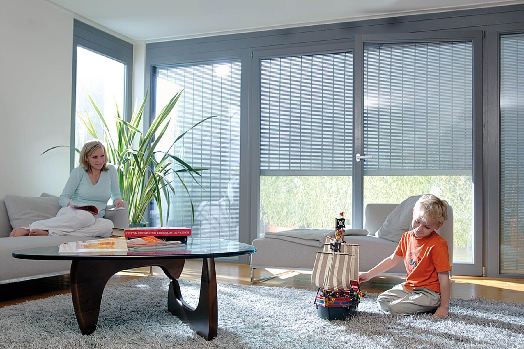 Eckfenster innenansicht  Raffstore - HG RaumDesign GmbH