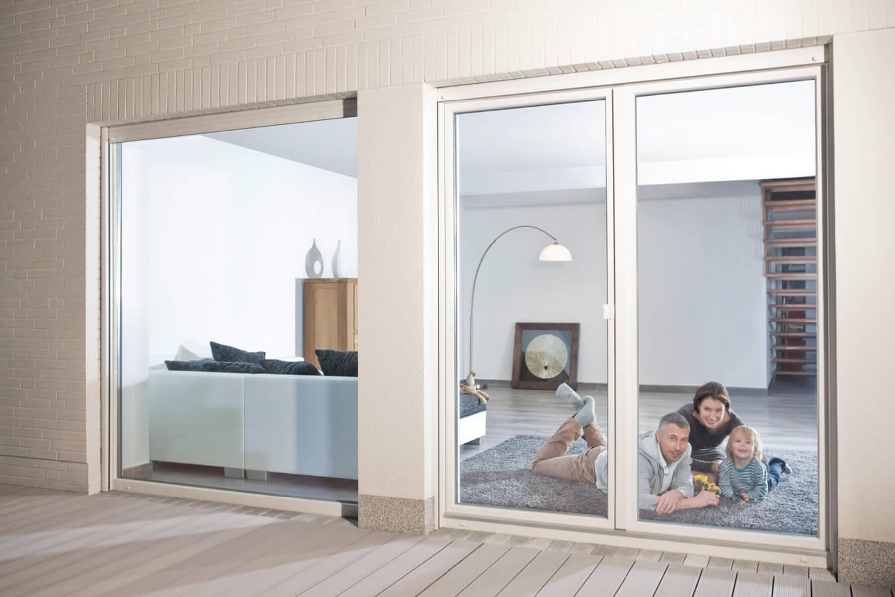 Inspirierend Fensterfront Dekoration Von Terrassentuere-breit-fensterfront-rehau-hg-raumdesign